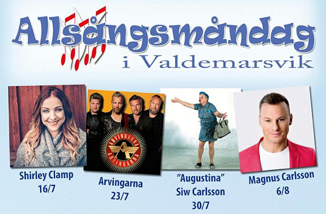 Allsångsmåndagar i Valdemarsvik!